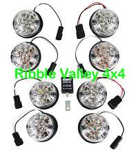 LAND ROVER DEFENDER WIPAC CLEAR LED LENS LIGHT LAMP 73MM  UPGRADE KIT SET DA1191