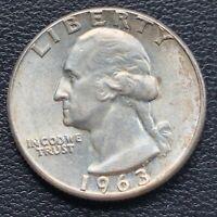 USA 1963 Washington Quarter 25c Top Erhaltung BU Silber #25131