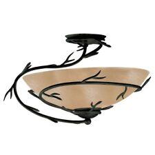 Semi Flush Mount Ceiling Light Fixture Rustic Chandelier Glass Dome Round Bronze