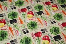 Vegetables Home Cook Chef Fabric FAT QUARTER 18
