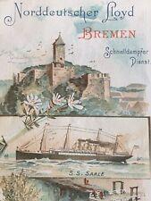 """Norddeutscher Lloyd Bremen to New York Passenger List """"Saale"""" 1897"""