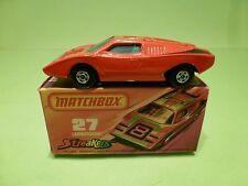 MATCHBOX 27 SUPERFAST LAMBORGHINI COUNTACH - RED  - NEAR MINT IN BOX