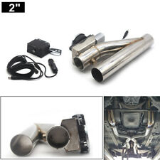 "2"" Motorized Electric Exhaust Downpipe Cutoff Bypass Valve Cutout + Remote Kit"