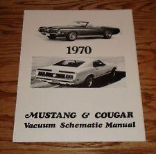 1970 Ford Mustang & Mercury Cougar Vacuum Schematic Manual 70