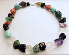 Multi Stone Necklace with silver clasp