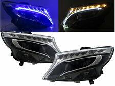 V-Class W447 Vito 14-present LED Halogen Headlight Black for Mercedes-Benz RHD