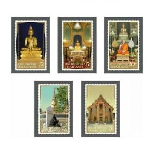 THAILAND 2021 ROYAL TEMPLE WAT RATCHABOPHIT COMP. SET OF 5 STAMPS IN MINT MNH