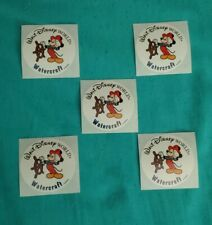 Official Disney World Stickers - WDW-Lot of 5 -Mickey Mouse Watercrafts Stickers