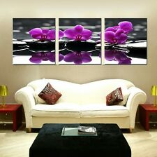 Home Decor Wall Art Painting Picture Oil On Canvas Prints Purple Orchid Flower