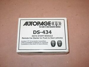 AutoPage DS-434 Data Remote Start System for Push-To-Start/ Smart Key Vehicles