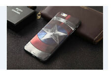 For iPhone 7 Captain America Marvel DC Soft Silicon 3D Stereo Relief Case Cover