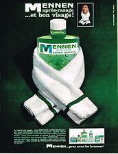 PUBLICITE ADVERTISING   1964   MENNEN    lotion aprés rasage