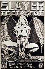 Slayer Testament 1991 Original Concert Gig Poster by Frank Kozik