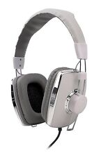 G-Cube iHM-500W  White Leatherette Headphone / Headset with Built-in Microphone