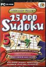 25,000 Sudoku, muy adictivo N º Colocación acertijos Último Juego PC NUEVO