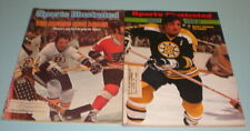 2 BOSTON BRUINS 1970's SPORTS ILLUSTRATED ESPOSITO CHEEVERS
