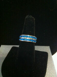Mix and Match Stackable Stainless Steel Rings with Swarovski Crystals Varieties