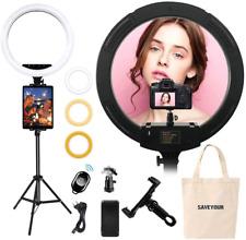 Aro De Luz GRANDE Para Fotografia Pro Tripode Soporte Camara Maquillaje Celular