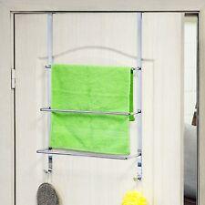 Handtuchhalter für Tür mit 3 Handtuchstange und 2 Handtuchhaken