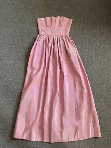 vintage  Prom or bridesmaids dress, Maxi dress 70's/80s boned bodice. Couture