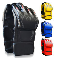 MMA Muay Thai Sanda Gym Boxing Half Finger Handschuhe Stanztasche Handschuhe