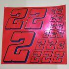 PINK CHROME w/Black & Blue #2's Decal Sticker Sheet 1/8-1/10-1/12 RC Models