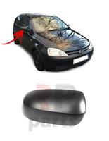 BLACK VAUXHALL CORSA C 2000-2006 NEW DOOR WING MIRROR COVER CAP LEFT N//S