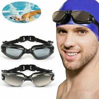 Swimming Goggles Adjustable Anti-fog UV Protection Adult Swim Glasses w/Ear Plug