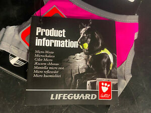 Hurtta High-Visibility Lifeguard Dog Pink Micro Vest XS NWT