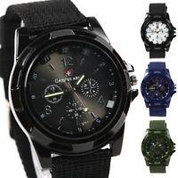 Gemius Army Mens Sports Military Watches Fabric Band Quartz Wrist Watch Stylish