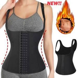 Women Boned Body Shaper Waist Trainer Vest Sheath Tummy Workout Underbust Corset
