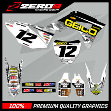 HONDA CR 125 250 CRF 250 450 MOTOCROSS GRAPHICS MX GRAPHICS KIT GEICO HONDA CAMO