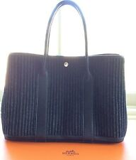 HERMES WOOL GARDEN PARTY PM TOTE