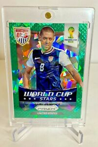 2014 Clint Dempsey Panini Prizm World Cup Green Crystals USMNT Soccer Card 22/25