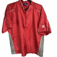 Mizuno RED Jersey T-shirt Size LARGE Short Sleeve