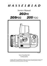 Hasselblad 203FE 205FCC 205TCC Service Repair Manual