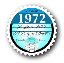 Retro 1972 disque de taxe un remplacement de disques vintage nouveauté licence voiture autocollant decal