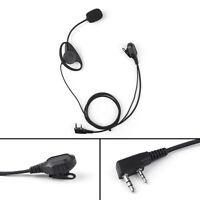 D EarPiece Headset Mic for Motorola 2-Pin CLS1110 CP100 Kenwood Baofeng Radio UK