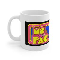 Ms. Pac-Man Arcade Ceramic Coffee Cup Mug 11oz Bally Midway NEW