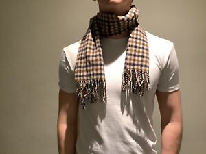 AQUASCUTUM. CLASSIC VINTAGE CHECK SCARF -PURE LAMBSWOOL