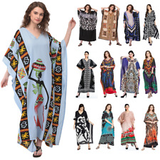 Women Plus Size Kaftan Boho Maxi Dress Night Gown Women's Sleeve Vintage Caftan