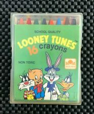VINTAGE BUGS BUNNY, DAFFY, PORKY, 16 CRAYONS GOLDEN 1983 LOONEY TUNES. NEW