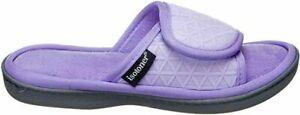 Isotoner Signature Moisture Wicking Memory Foam Purple Slippers