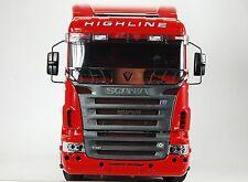 Für Truck Tamiya Scania Blende Edelstahl poliert Scheibengitter Muster 1:14 1/14