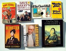 Humor Book Lot 7 George Carlin Sarah Silverman Woody Allen Gary Larson Far Side