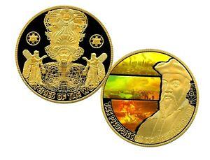 PROPHECIES OF NOSTRADAMUS COMMEMORATIVE COLOR COIN PROOF LUCKY MONEY $139