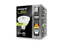 Integral MR16 Glass GU5.3 3.3W (20W) 2700K 260lm Non-Dimmable Lamp