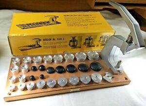 Bergeon 5500A Crystal Press w/ Dies, Complete Set, Watchmaking
