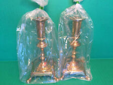 2 Vintage Ornate DANISH SOLID BRASS Footed Candle Holders Candlesticks HEAVY 7IN