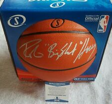 "Robert Horry Hand Signed Spalding Basketball ""Big Shot"" Insc BAS COA Proof Photo"